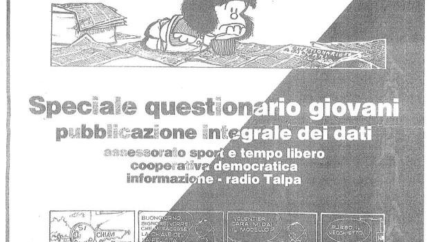 copertina Questionario giovani 1983